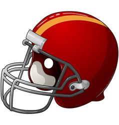 Red Football Helmet vector image vector image