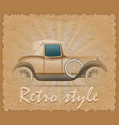 retro style poster old car vector image vector image