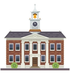 School or university building vector image vector image