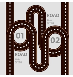 Road infographic with ways set and elements vector image vector image