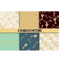 Seamless keys pattern set vector image vector image