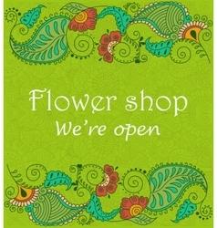 Vintage signage for flower shop vector image vector image