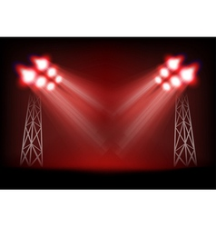 Bright stage vector image