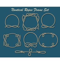 Nautical ropes frame set vector