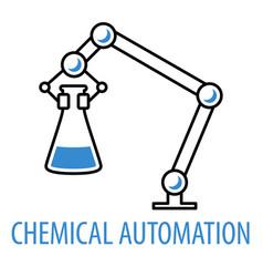 robot limb logo vector image