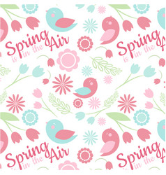 seamless spring-pattern vector image