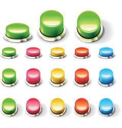 set of glossy empty buttons vector image vector image