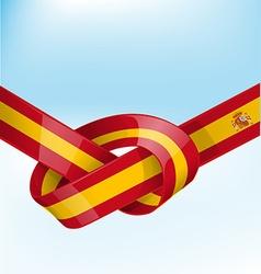 spain ribbon flag vector image vector image