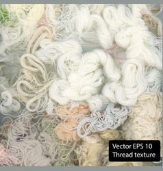 White cotton texture thread background vector