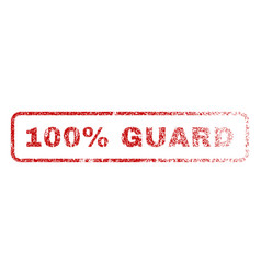 100 percent guard rubber stamp vector