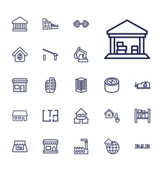 22 building icons vector