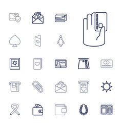 22 card icons vector