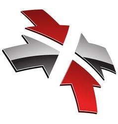 3d shiny arrows vector