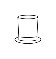 a hat cylinder for gentleman icon outline vector image