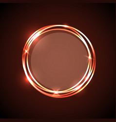 Abstract background with orange neon circles vector