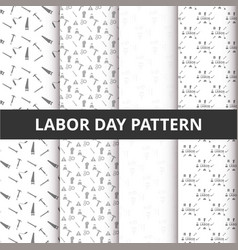 abstract beautiful set of labor day pattern vector image