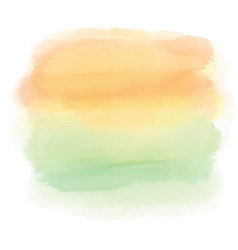Abstract watercolor sunset background vector