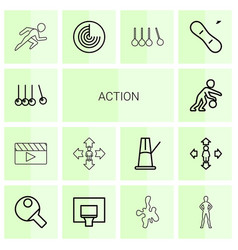 Action icons vector