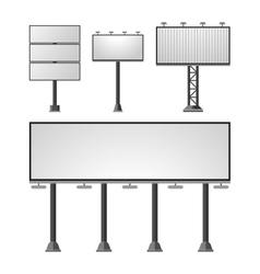Advertisement billboards set vector image