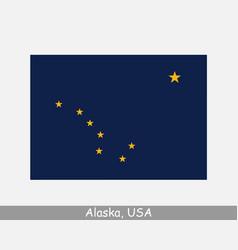 Alaska usa state flag ak usa vector