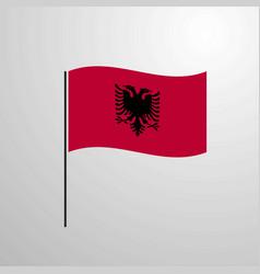 Albania waving flag vector