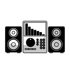 Audio console professional icon vector