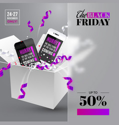 black friday sale event corporate identity flyer vector image