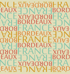 Bordeaux france seamless pattern vector