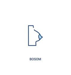 Bosom concept 2 colored icon simple line element vector