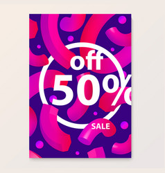 Bright poster for your sales discounts and vector