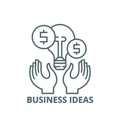 business ideas line icon business ideas vector image
