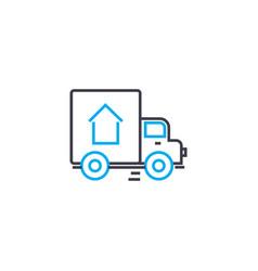 cargo delivery thin line stroke icon cargo vector image