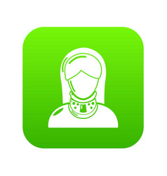 Cervical retainer icon simple style vector