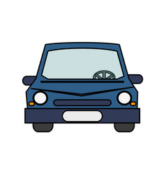 Colorful realistic image front view car vector