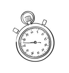 Doodle stopwatch vector