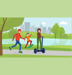 family day in park vector image