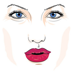 Female with blue eyes vector