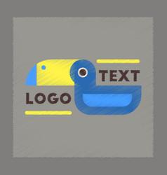 flat shading style icon bird logo vector image