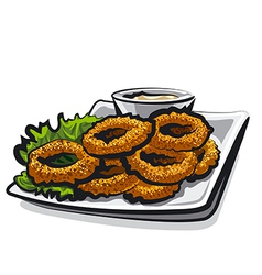 fried squid rings vector image