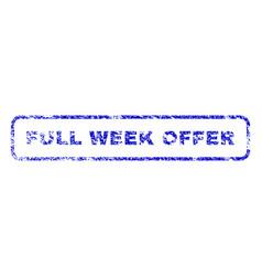 full week offer rubber stamp vector image