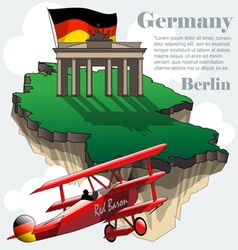 Germany country infographic map in 3d vector image