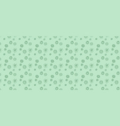 Green background image doodle viruses drawing vector