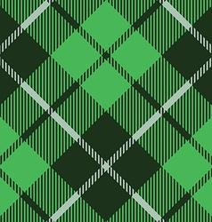 Green tartan fabric texture diagonal pattern vector
