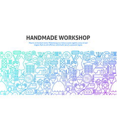 Handmade workshop concept vector