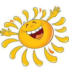 Happy cartoon sun design vector
