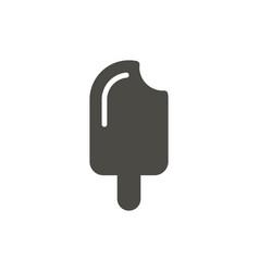 ice cream icon sweet food symbol isolated vector image