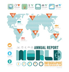 Infographic annual report world template vector image