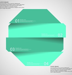 Infographic templete with motif of octagon divided vector