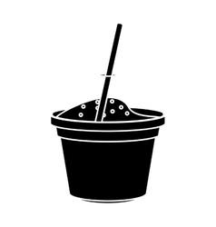 Isolated milkshake ice cream design vector
