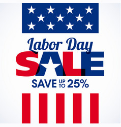 Labor day sale advertising banner design vector